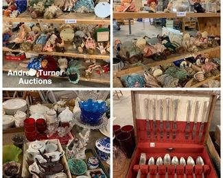 Collectible dolls, china, flatware etc.