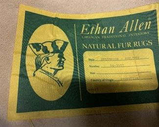 Ethan Allen Natural fur rugs