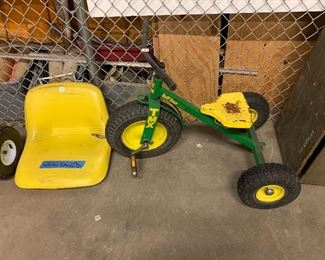 John Deere tricycle and tractor/mower seat
