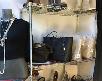 New leather designer handbags from Nordstrom, shoes and boots