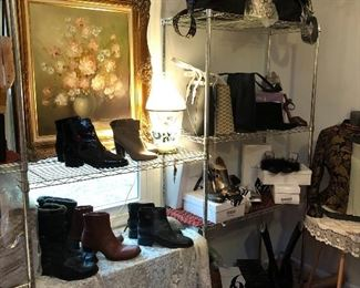 Shoes and designer Leather Handbags