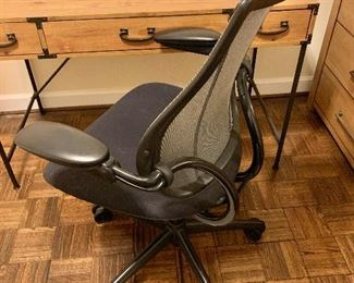 "$295 - ""Humanscale"" office chair - 41"" H x 28"" D x 26.5"" W, seat height 19"""