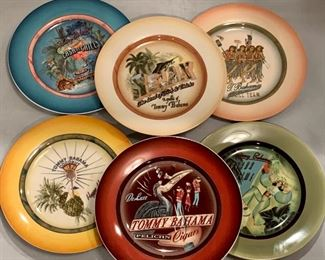 "$20 - Boxed Set of 6 Tommy Bahama Cocktail Plates, 6.5"" diameter"