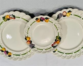 Detail; Gucci dinner plates and salad plate