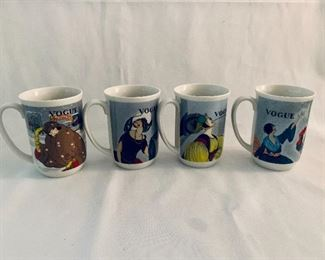 $40; Set of 4 vintage Vogue coffee mugs; Seymour Mann (made in Japan) with original box;
