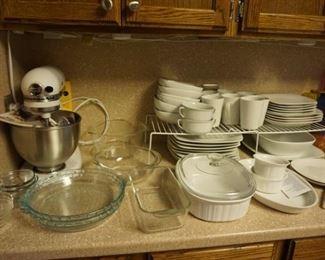 dishes,  Kitchenaid Mixer, pie plates