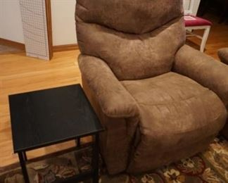 recliner, small side table