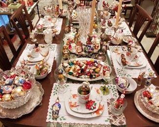 DINNER IS SERVED...I HOPE YOU LIKE ORNAMENTS!
