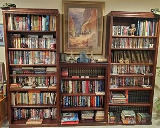 Bookcases full of DVD's, BOOKS, VHS...G. HARVEY PRINT