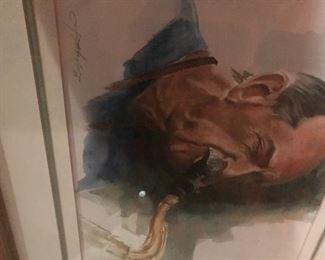 Lafayette Ragsdale Watercolor Appraisal is $900