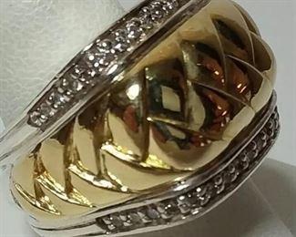 Scott Kay 18k and 925 ladies diamond ring!  Size 8 Appraisal is $3150