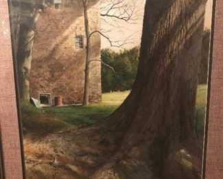 Amazing watercolor by Emmett Thames  Highly collectible