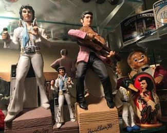 1970's Elvis whiskey Decanters