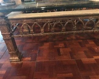 Custom solid iron coffee table