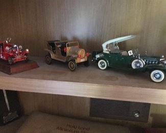 Vintage cast metal cars