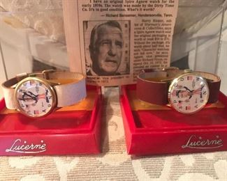 Crazy good find! Vintage Spiro Agnew collector watches!  Never seen these before!