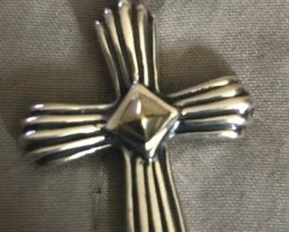 Beautiful Konstantino Treasures 18k and 925 cross.  Like new! Appraisal is $625