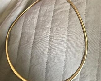 """Ladies wide graduated 14KT gold 17"""" OMEGA. Appraisal is $1800"""