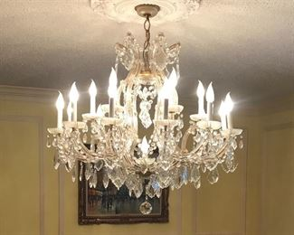 One of the best vintage 1950s chandeliers...large and in amazing condition!