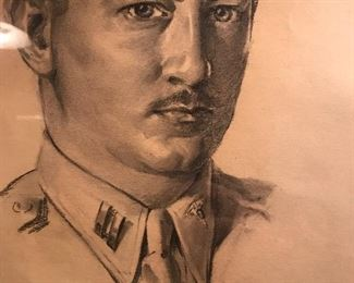 Ray Harty 1940s charcoal portrait