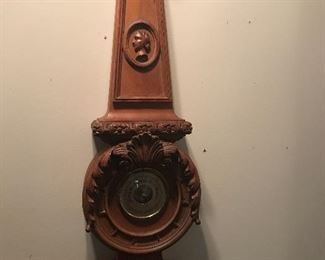 Hand carved American wall clock