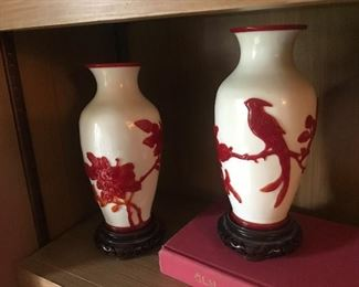 Rare red Peking vases in a larger size Appraisal $3900