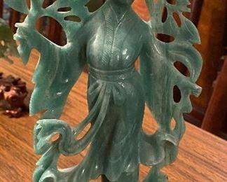 Spinach Jade Geisha Victorian era