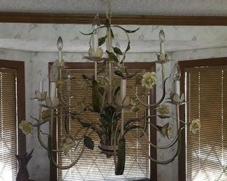 Amazing large 1960s Italian tile chandelier