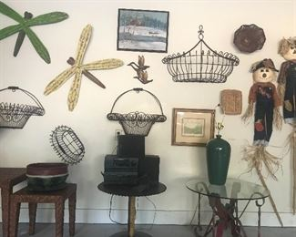 Garage full of decorative items, Tupperware and furniture!