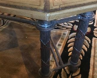 Large bronze and glass coffee table from SAMUEL'S