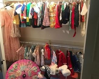 Wonderful collection of vintage children's dresses and clothing! 1950-70's