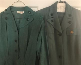 Girl Scout troop leader uniforms from the 1950's