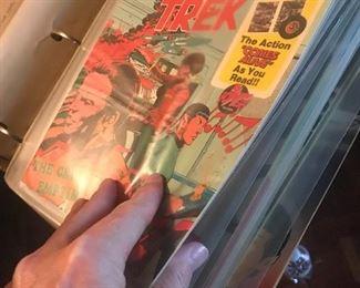 Dozens of MINT CONDITION STAR TREK comic books!