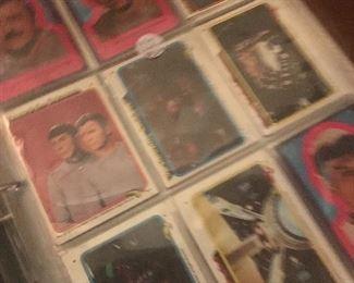 Hundreds of STAR TREK trading cards.