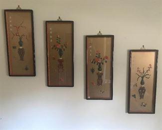 Amazing 1960s Chinese carved Bakelite panels