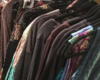 Dozens and dozens of designer tops and blouses