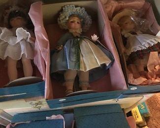 Like new in box Madam Alexander full size dolls