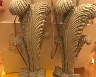 Rare 1960a  CHAPMAN Ribbon and Plume lamps