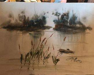 Orginal watercolor by Lafayette Ragsdale