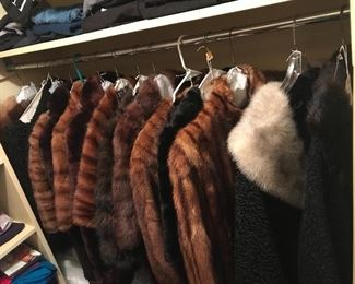 Beautifully cleaned and stored furs from the 1950s and 60s Excellent condition