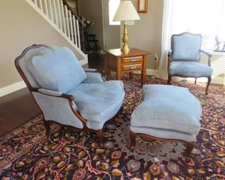 $275.00, Thomasville Chair and ottoman, excellent condition