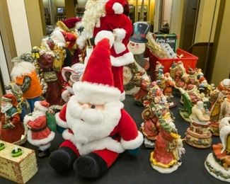 Santa collection!  This is just a few.....