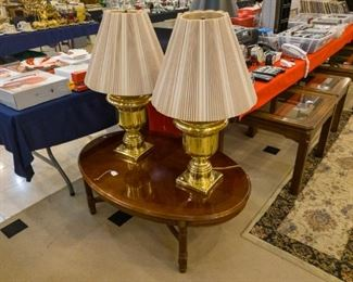 Lamps, coffee/end tables, large area rugs