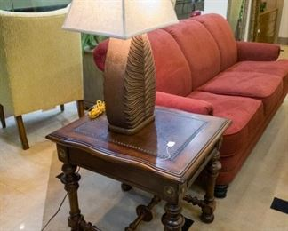 NICE Flexsteel Couch, leather top coffee tables