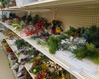 Lots of Christmas floral!