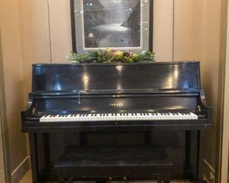 Yamaha P2 ebony black studio console piano, wonderful tone!