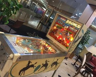 1963 Chicago Coin Bronco pinball machine, in good condition set up for free play!