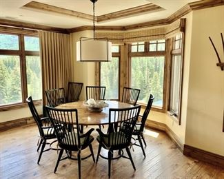 Round Dining Room Table $799                                                Dining Chairs $99 Each