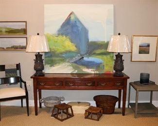Large Painting was kept by family