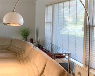 LOT #101 - $1,200 - Mid Century Modern Guzzini Chrome Arco Floor Lamp with Marble Base